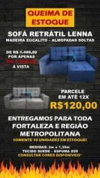 Título do anúncio: SOFÁ LENNA RETRÁTIL E RECLINÁVEL COM TECIDO SUEDE