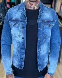 jaquetas jeans masculina e feminina