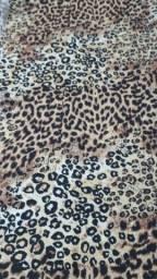 Peça Tecido Viscose Animal Print Medidas: 1,40m X 1,20m