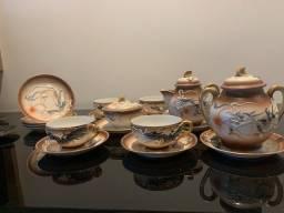 Conjunto de xícaras  de porcelana casca de ovo - japonesas