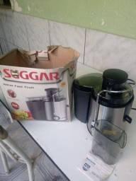 Centrífuga de alimentos e extrator de sucos, 400W.( Aço inox) Promoção.