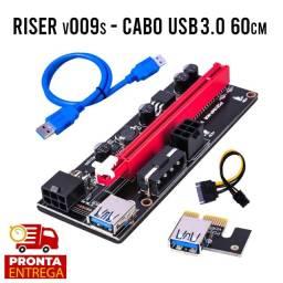 Cabo Riser 009s para mineração - Extensor PCIe X16