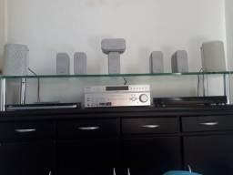 Home theater sony e caixas polk audio