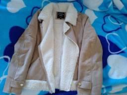 Jaqueta forrada em lã