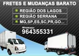 Fretes e Mudanças Região dos Lagos, Região Serrana, Costa Verde e Outras