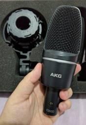 Microfone Condensador AGK C3000 com Shock Mount