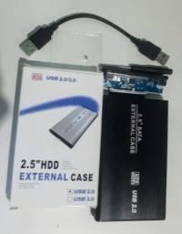 CASE para HD externo 35 reais.