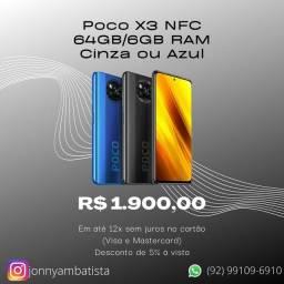 Poco X3 NFC 64GB/6GB RAM - 12x sem juros