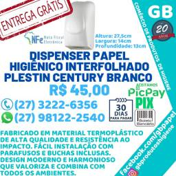 Dispenser Porta Papel Higienico Interf. Century Todo Branco Entrega Grátis N.F