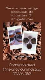 Vendo Brigadeirão e brigadeiro