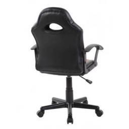 Cadeira Gamer Kids em Couro PU Pelegrin PEL-9353  Preta com Vermelho