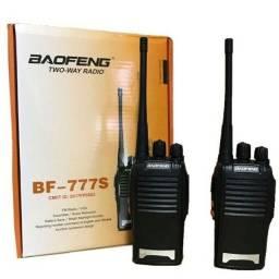 RÁDIO COMUNICADOR BAOFENG COM DOIS BF-777s
