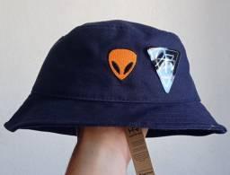 Chapéu bucket azul escuro