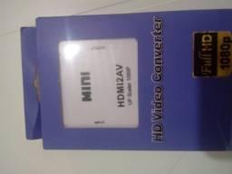 Conversor HDMI pra RCA novo