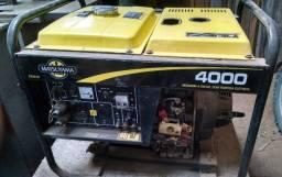 Gerador 4000 Diesel 127/220v Partida Elétrica Matsuyama pouquíssimo uso!