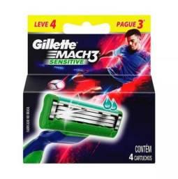 Carga Gillete Mach 3 Sensitive - Leve 4 pague 3!