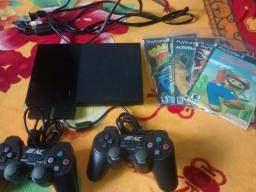 PlayStation 2 completo e ja desbloqueado