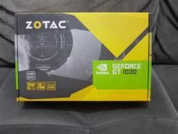 GT 1030 Zotac - 2gb GDDR5 - Perfeita, na caixa. Placa de Vídeo nVidia GeForce