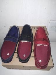 Sapatilhas de couro fino