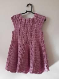 Vestido em crocher infantil