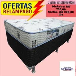 Oferta de Solteiro Ortobom D33 conjunto base e colchão de espuma