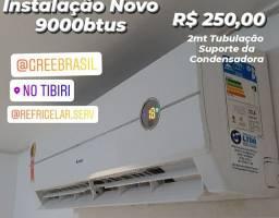 Instalação Ar Split 9000 Novo Com Todo Material R$ 250,00 - Suporte e Conexões