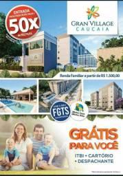 Apartamentos novos no centro de Caucaia-2 quartos 48mts