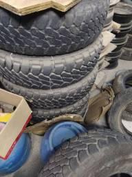 Jogo rodas  com pneus scorpion mtr 215/80/16