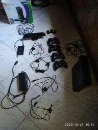 Xbox 360 rgh hd 600gb 4 controles + kinect