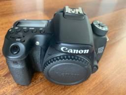 Câmera Cânon EOS70D wifi NOVA zero click com acessorios (corpo)