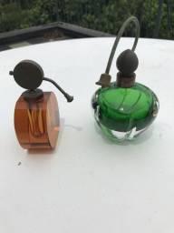 2 Frascos Perfume Antigo Colecionador Decoração