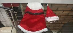 Roupa de papai Noel pra pet