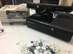 Usado, Xbox 360 Super Slim 4gb Bloqueado + Kinect + Jogos comprar usado  São Vicente