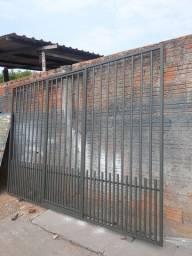 ademar serralheria vende este portão de 320 de largura por  225 de altura chapa 16 1100