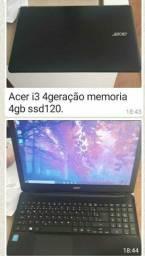 Notebook Acer (Aceito Cartão)