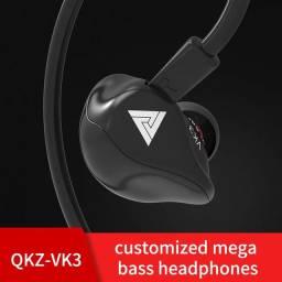 Fone qkz Vk3 3.55mm Intra-Auricular Retorno de Palco