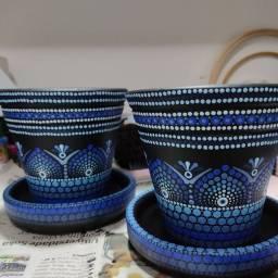 Vaso de cerâmica Royale