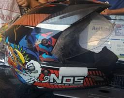 Capacete - Pro Tork motocross e urbano- com viseira