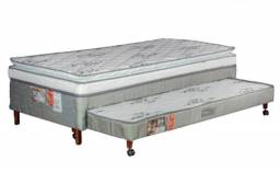Cama Box - Cama Solteiro com Auxiliar- Cama Box
