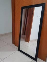 Espelho de Parede na cor preta 1,0m x 0,5m