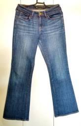 Calça Jeans Feminina Boca Larga Sem Strech Levi's