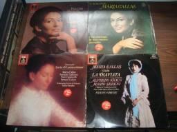 Maria Callas, Lote com 4 albuns total 8 Lps usados rara conservação