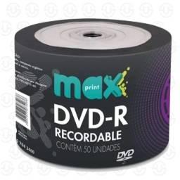 DVDs e CDs virgem na embalagem, com pronta entrega do pack de 50/100 mídias