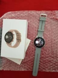 Smartwatch dt96 prata, troca watchface e troca pulseiras