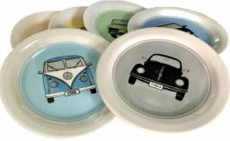 Jogos De Pratos Clássicos Kit Completo Volkswagen 6 Pratos