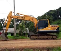 Escavadeira hidráulica hyundai lc160 9s 2016