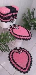 MUITO BARATO!!! APROVEITE!!! Jogo de tapetes de banheiro em crochê