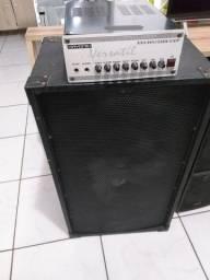 Potência Hayonik versatil 1001e caixa mark audio 15polegadas com twuiter