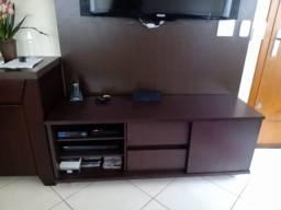 Rack para TV até 65 Polegadas Com Rodinhas Tabaco 150x45x60