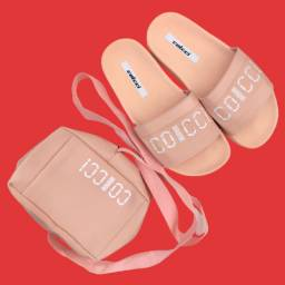 KIT CHINELO + BAG Colcci Rose